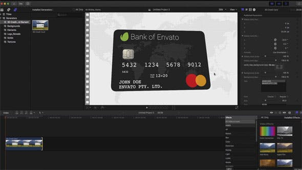 Thumbnail for 3D Credit Card Builder FCPX
