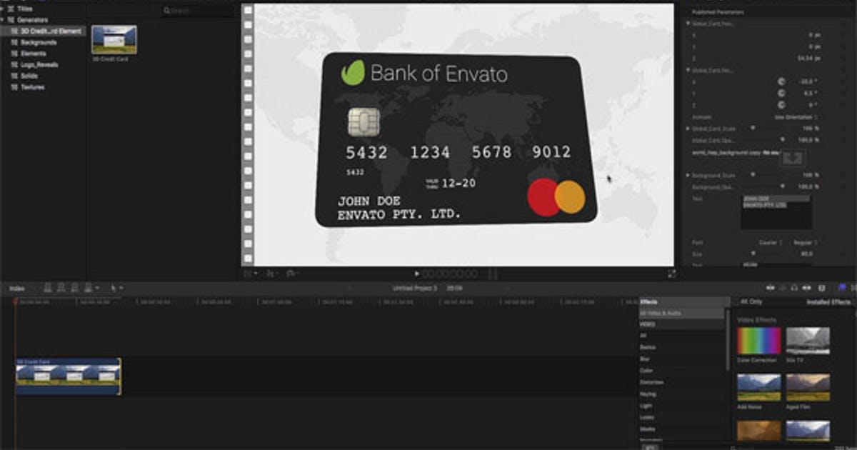 Download 3D Credit Card Builder FCPX by miseld