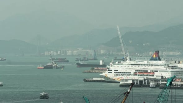 Thumbnail for Ship Traffic In Hong Kong Harbour
