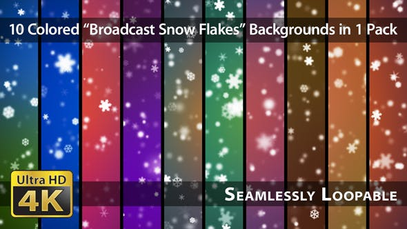Broadcast Snow Flakes - Pack 01