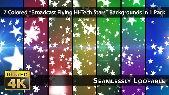 Thumbnail for Broadcast Flying Hi-Tech Stars - Pack 01