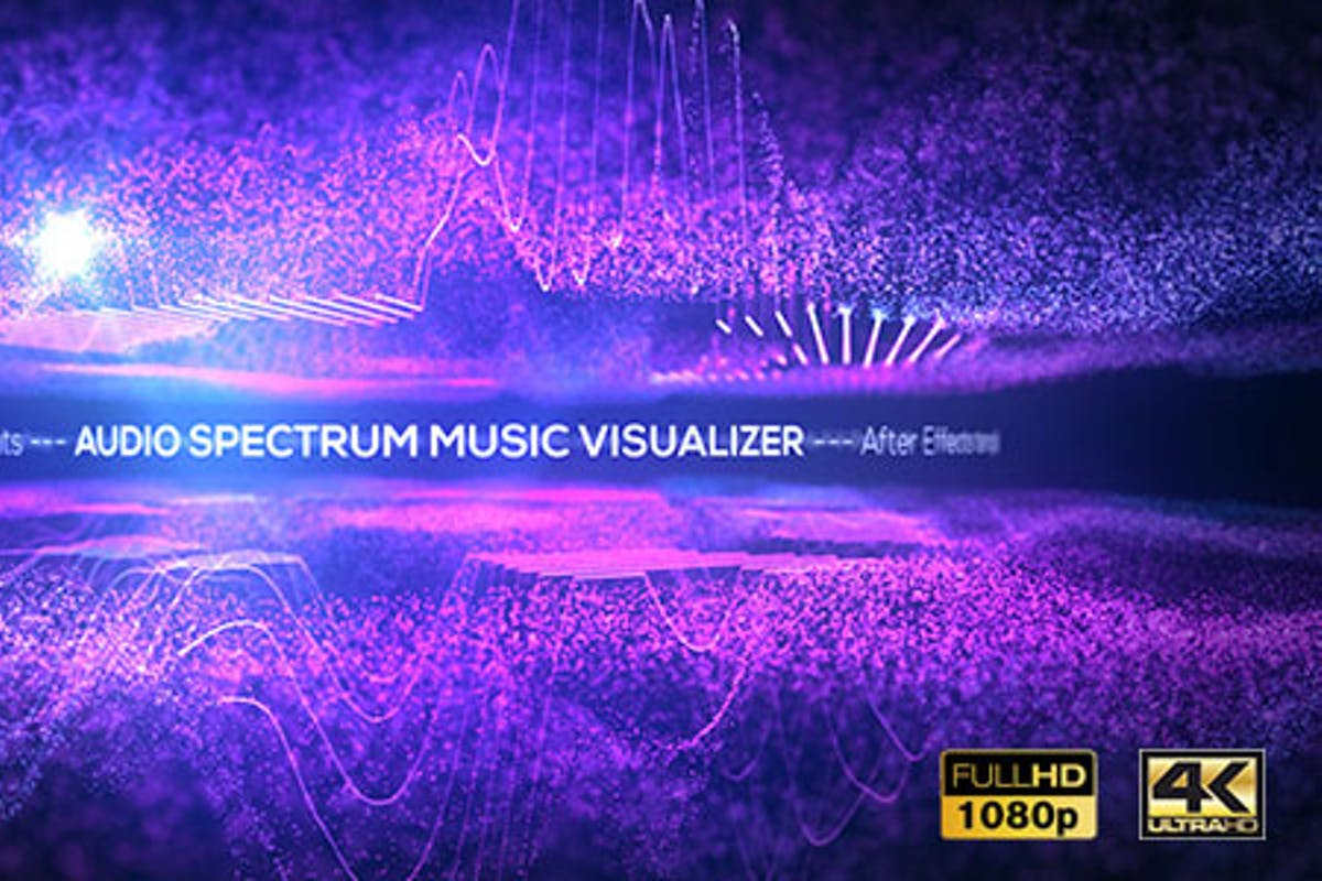 Audio Spectrum Music Visualizer by graphicINmotion on Envato Elements