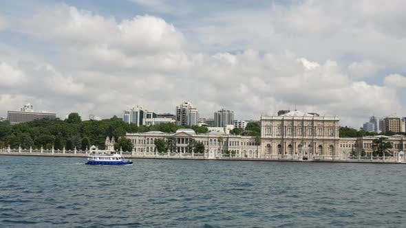 View from a ferry at The Golden Horn ( Haliç a major urban waterway)