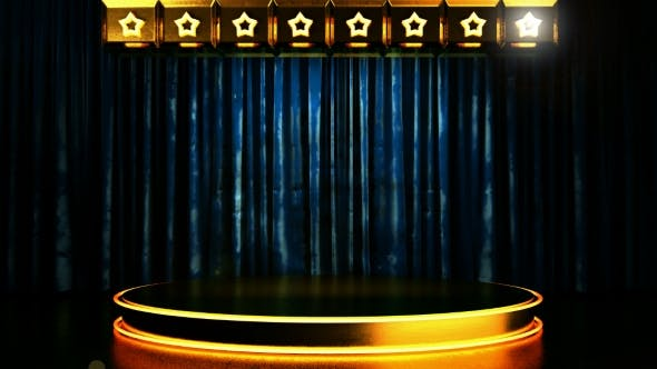 Thumbnail for Velvet Curtain Stage With Loop Lights
