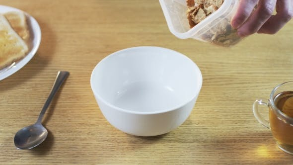 Thumbnail for Putting Muesli Into a Bowl