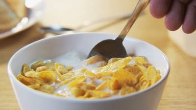 Corn Flakes On a Spoon