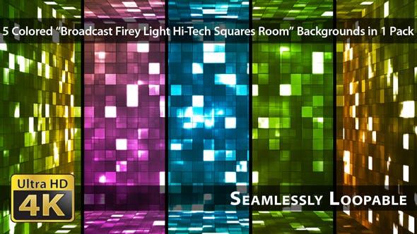 Thumbnail for Broadcast Firey Light Hi-Tech Squares Room - Pack 01