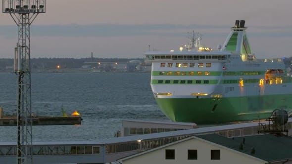 Passenger Ferry Entering To Port