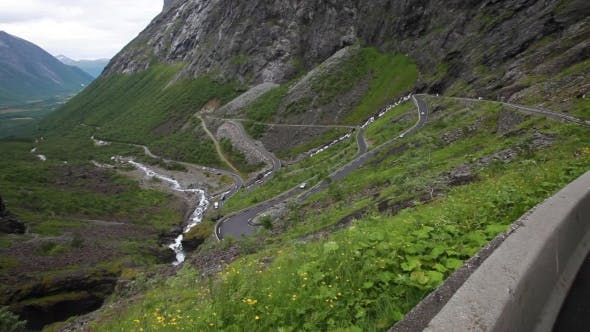 Cover Image for Troll's Path Trollstigen Or Trollstigveien Winding Mountain Road.