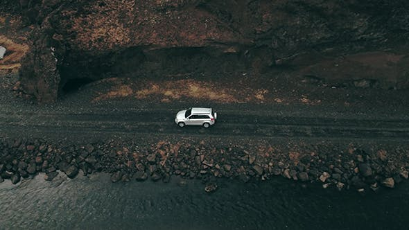 Thumbnail for Car In Iceland Landscape