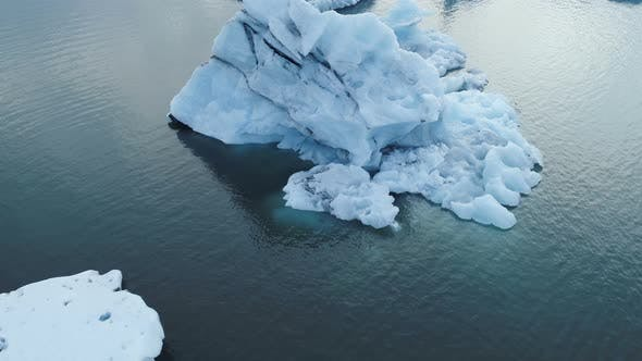 Thumbnail for Glacier Icebergs Floating And Melting On Ocean