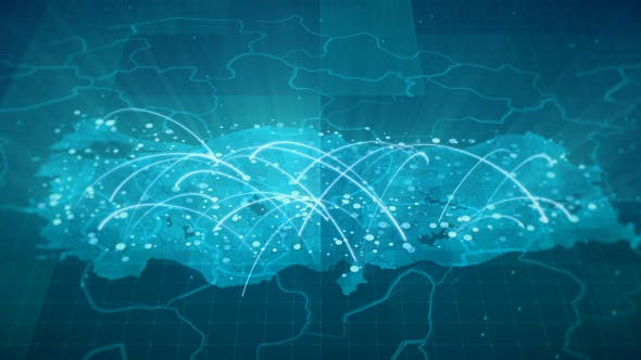 Thumbnail for Globalization Turkey Map Animation 4K