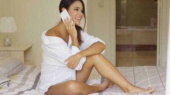 Thumbnail for Sexy Young Woman Relaxing On Her Bed