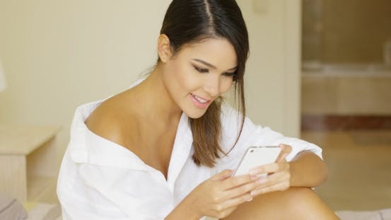 Thumbnail for Slender Tanned Young Woman Spending a Relaxing Day