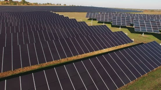 Thumbnail for Long Rows Of Photovoltaic Panels At a Solar Farm