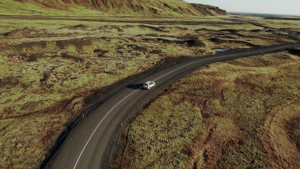 Thumbnail for Car Driving On Iceland Road