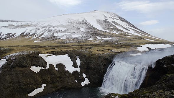 Thumbnail for Powerful Waterfall in Iceland
