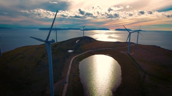 Cover Image for Windmills For Electric Power Production Havoygavelen Windmill Park Norway