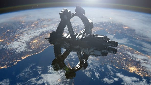 Thumbnail for Space Station Orbiting Earth