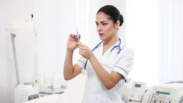 Thumbnail for Beautiful Brunette Woman Medical Worker