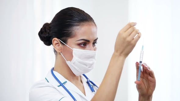 Cover Image for Beautiful Brunette Woman Medical Worker