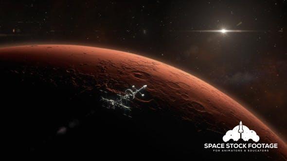 Thumbnail for Spaceship Orbiting Mars