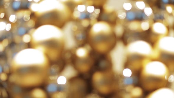 Thumbnail for Golden Christmas Decoration Or Garland Of Beads 2
