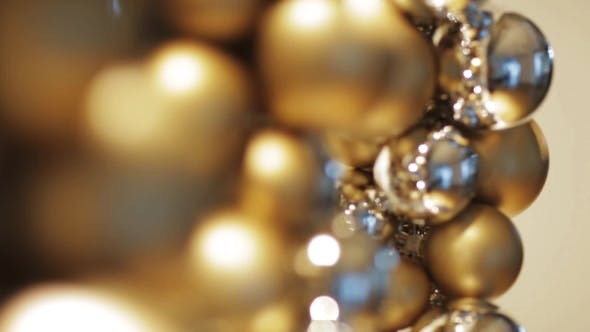 Thumbnail for Golden Christmas Decoration Or Garland Of Beads 9