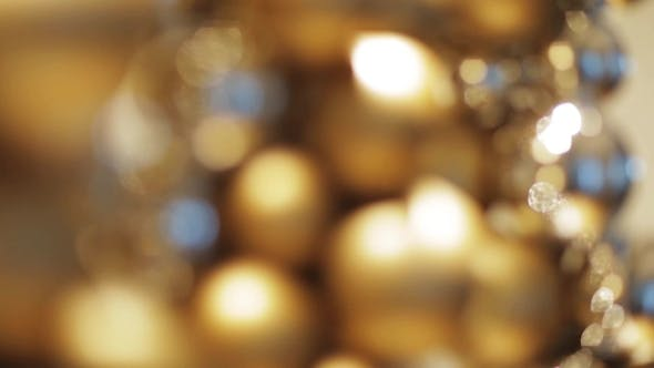 Thumbnail for Golden Christmas Decoration Or Garland Of Beads 11