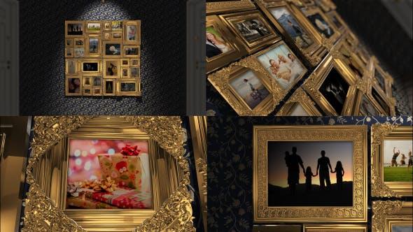 Golden Frames Photo Gallery Kit