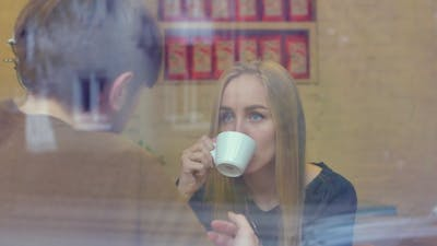 The Conversation In The Cafe