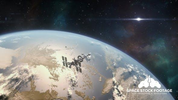 Thumbnail for Spaceship Orbiting Exoplanet