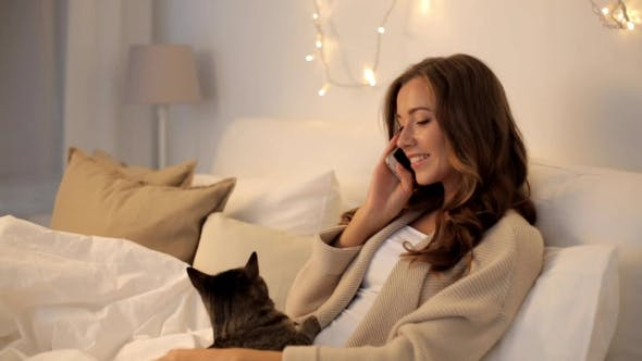Thumbnail for Happy Young Woman Calling On Smartphone At Home 31