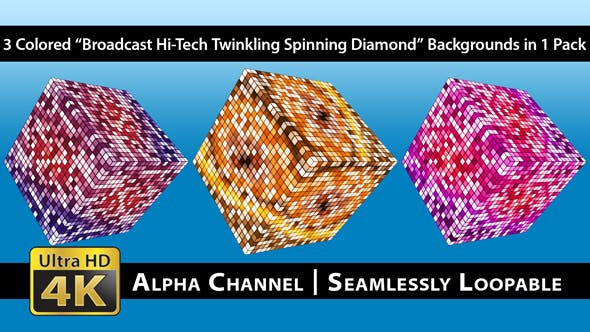 Thumbnail for Broadcast Hi-Tech Twinkling Spinning Diamond - Pack 01