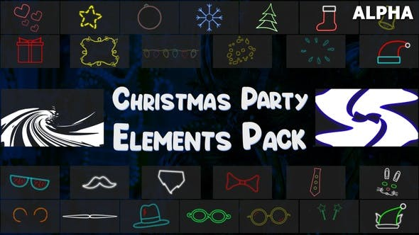 Christmas Party Elements Pack