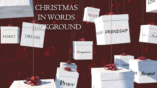 Thumbnail for Christmas In Words Background