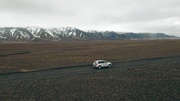Thumbnail for Car On Highlands In Iceland