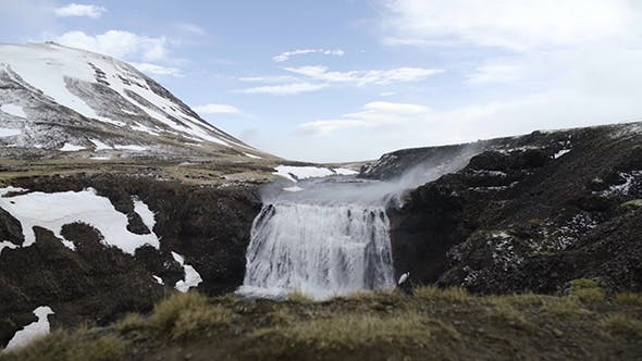 Thumbnail for Typical Waterfall in the Iceland