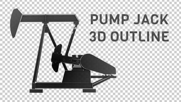 Thumbnail for Oil Pump Jack - 3D Outline