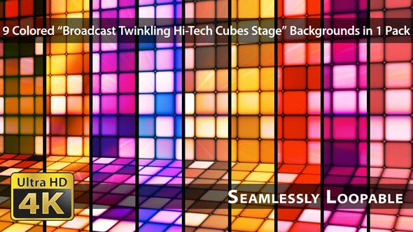 Thumbnail for Broadcast Twinkling Hi-Tech Cubes Stage - Pack 02