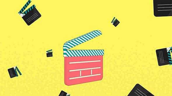 Thumbnail for Logo de cinéma plat