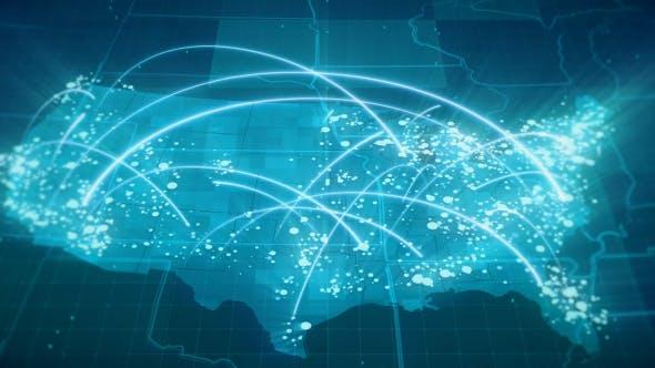 Thumbnail for Globalization USA Map Animation HD
