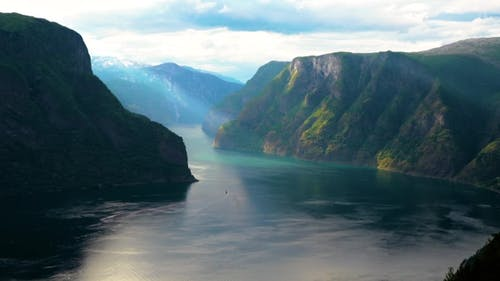 Beautiful Sognefjord Or Sognefjorden Nature Norway.