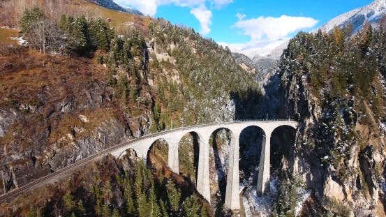 Thumbnail for Beautiful Viaduct In Switzerland, Aerial View