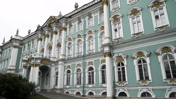Winter Palace and Hermitage Museum facade