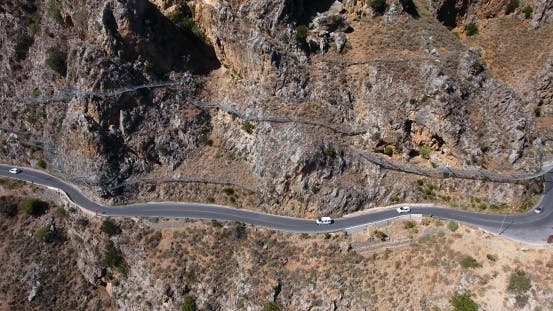 Thumbnail for Road In Mountains At Crete Greece