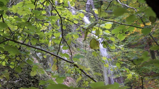 Thumbnail for Waterfall Silver Stream In Crimea