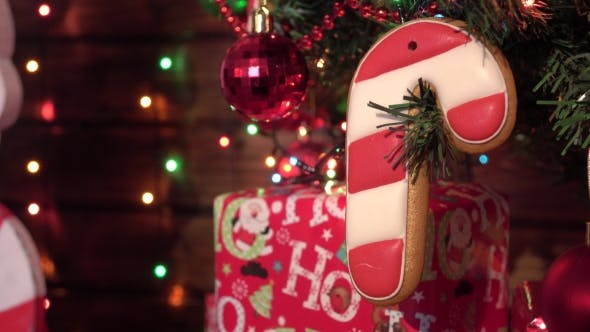 Thumbnail for Christmas Homemade Gingerbread Cookies, Spice, Wooden Board