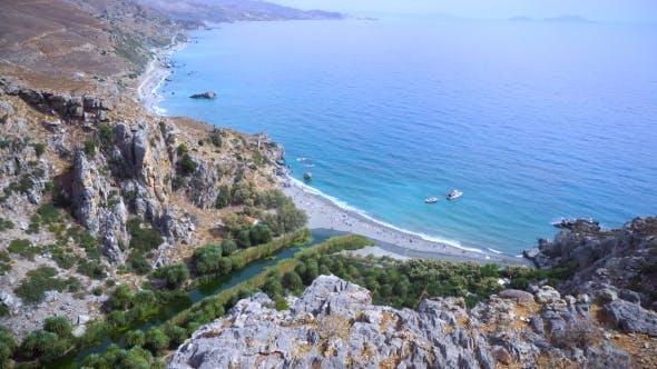 Thumbnail for Palm Beach Preveli In Crete Greece
