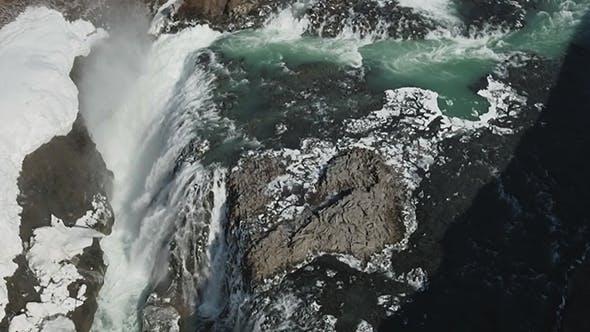 Famous Gullfoss Waterfall
